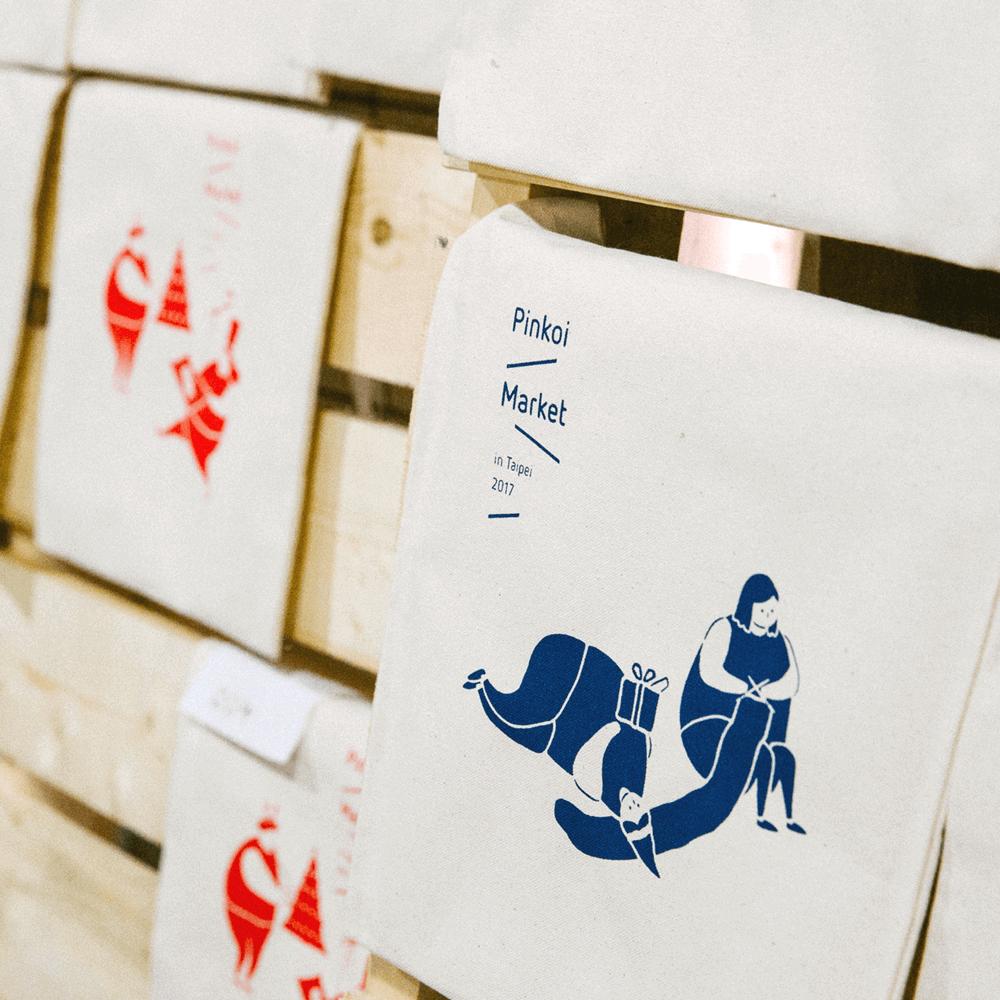兩天限定手工絹印帆布包體驗活動,一色一款。