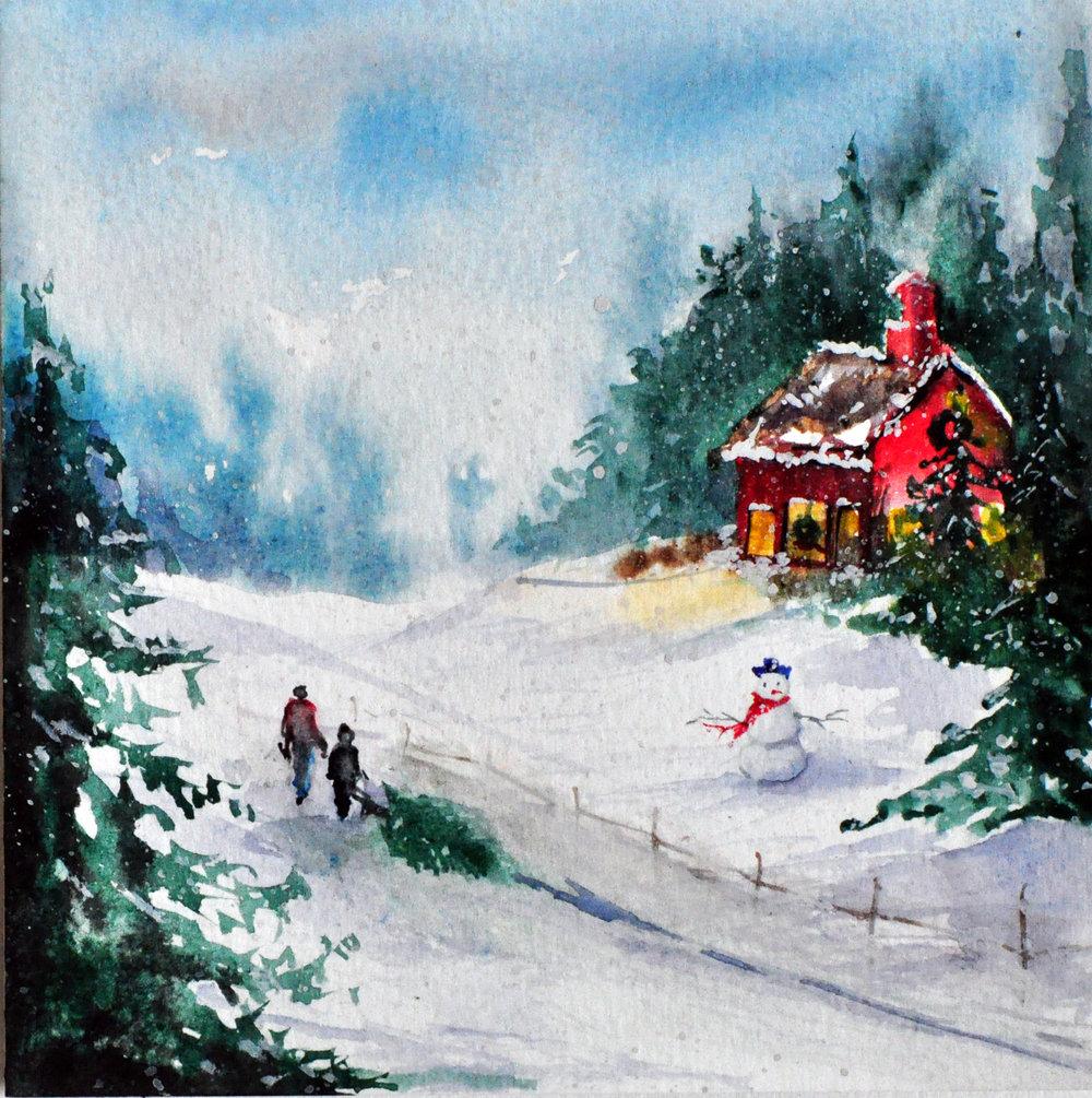 WATERCOLOR CHRISTMAS COLLECTION -CLUB SCRAP