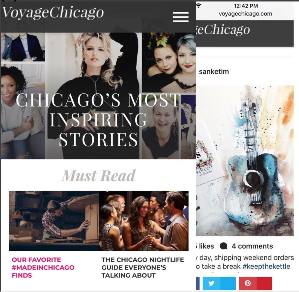Featured in VOYAGE CHICAGO magazine ! #fabulousfinds #handmadeinchicago