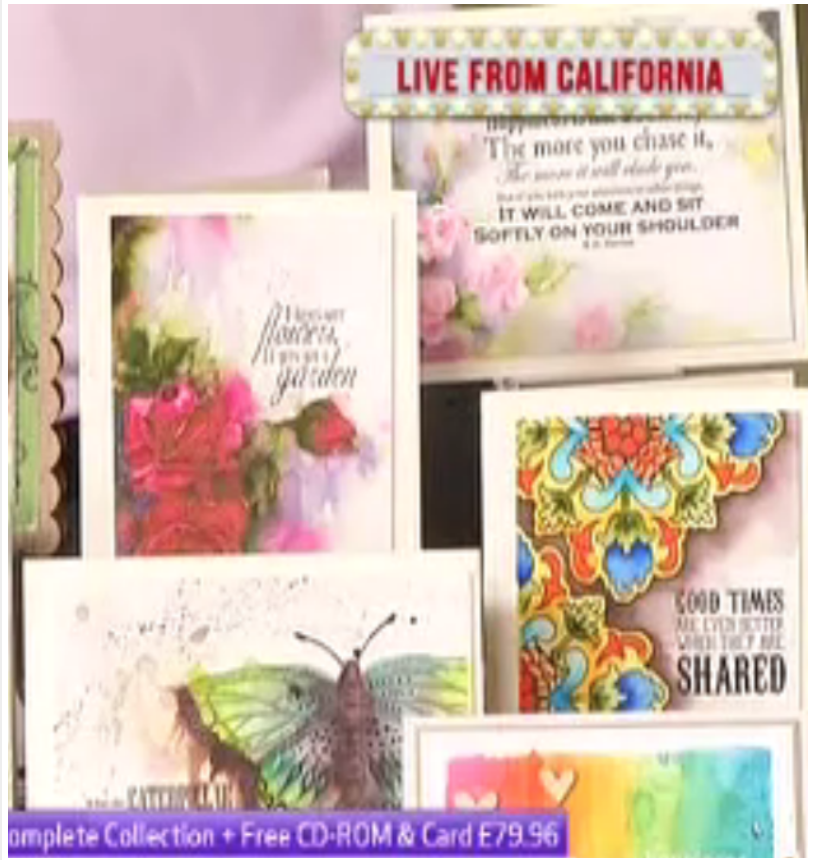 Art on cards on TV! CHA