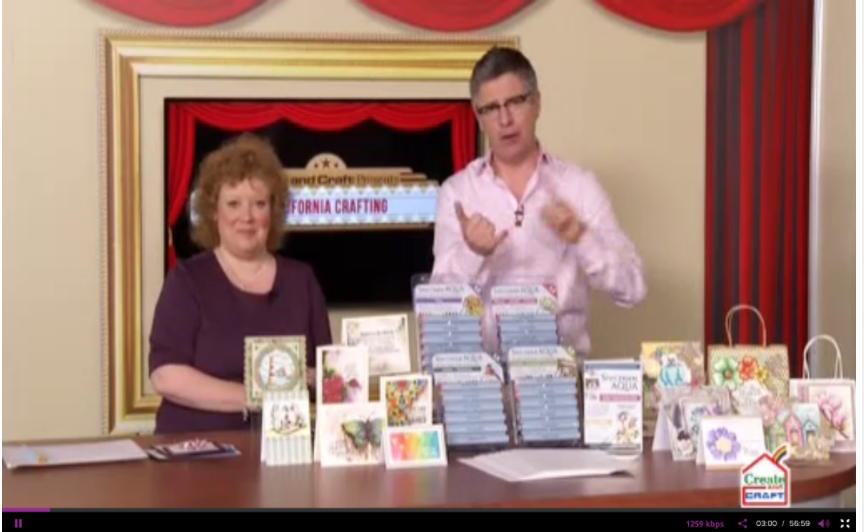 My art on TV! Featuring Crafter's Companion Spectrum Aqua products. CHA