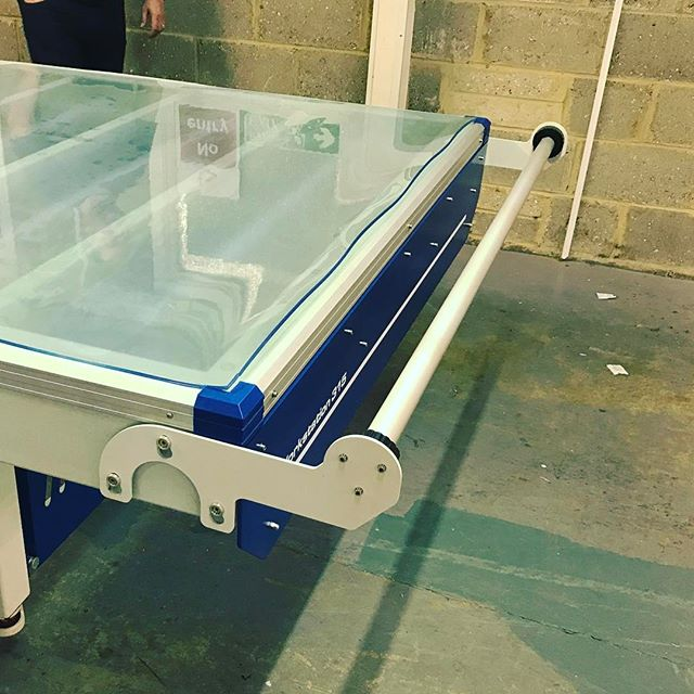 Our brand new and improved media holders allows you to take your rolled graphics from your printer straight onto workstation to be applied! Saving unnecessary lifting! #smartthinking #flatbedapplicators #graphics #wideformat #wideformatprinting #applicationtable #mountersmate #workstation315