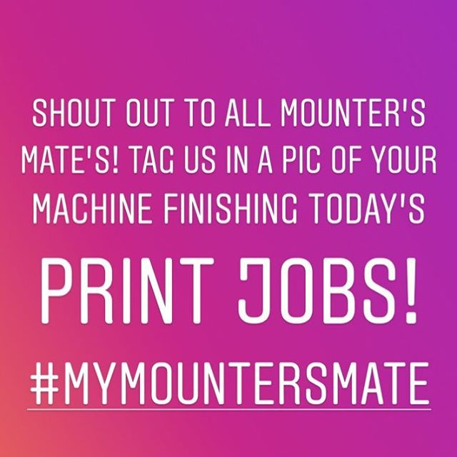 Mounters! Tag us in your action shots in January and we will send out a sample of our latest toy! #happynewyear #flatbedapplicator #mountersmate #laminator #signage #largeformatprint
