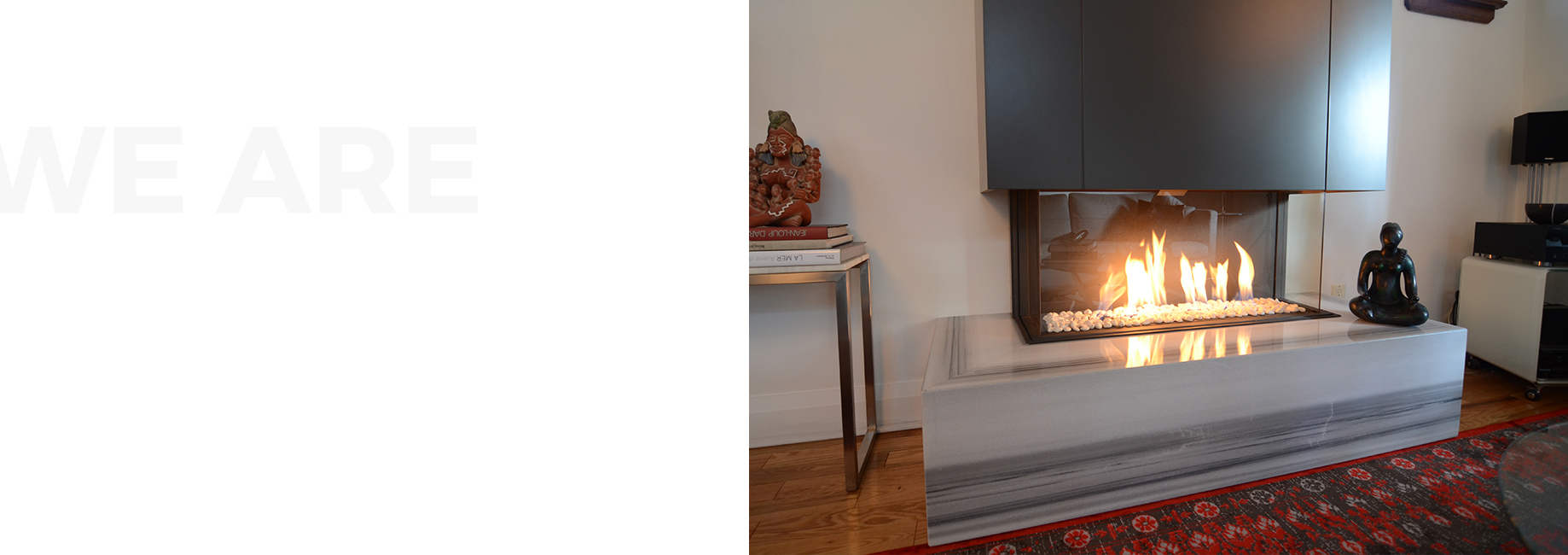 Toronto based indoor and outdoor custom fireplace design