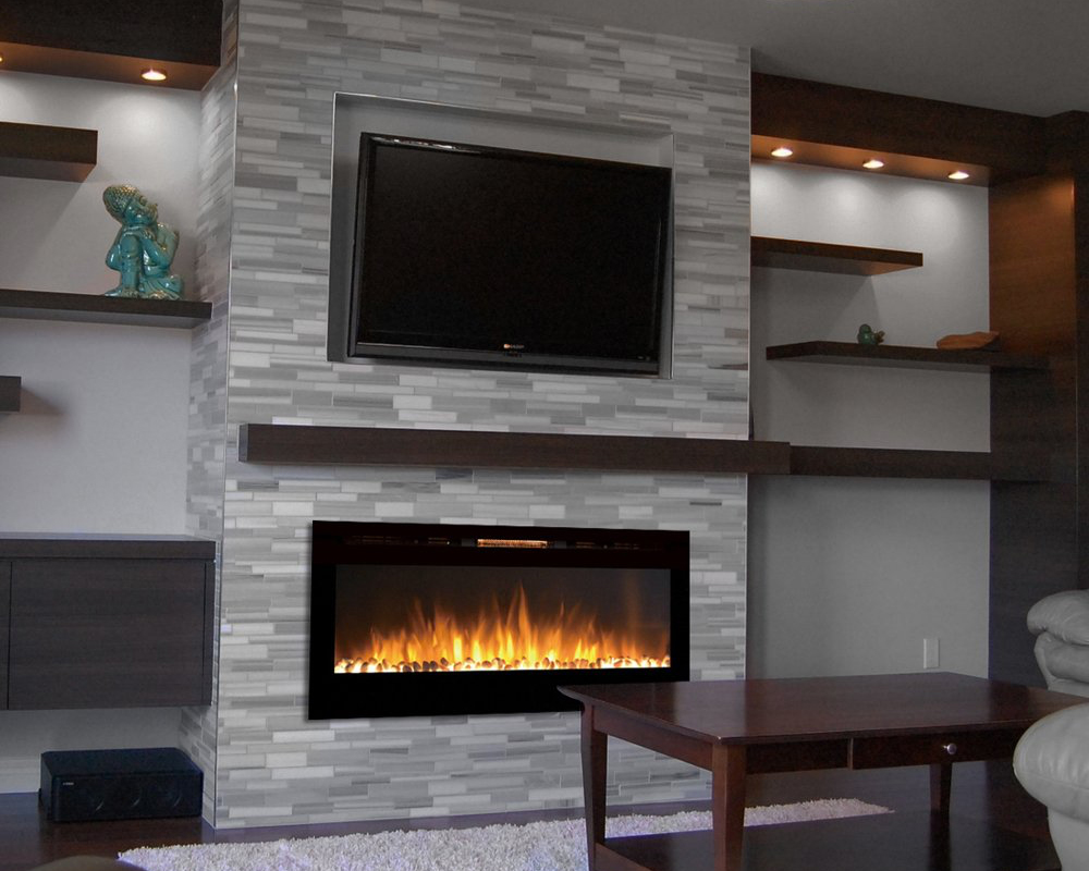 ElectricFireplaces - There is the growing condominium market in downtown Toronto where wood or gas fireplaces are not always an option. With the elimination of the need for venting and gas lines the fireplace can be located anywhere within the space. We carry an array of electric fireplaces that will allow us to achievethe same level of design as in a home.