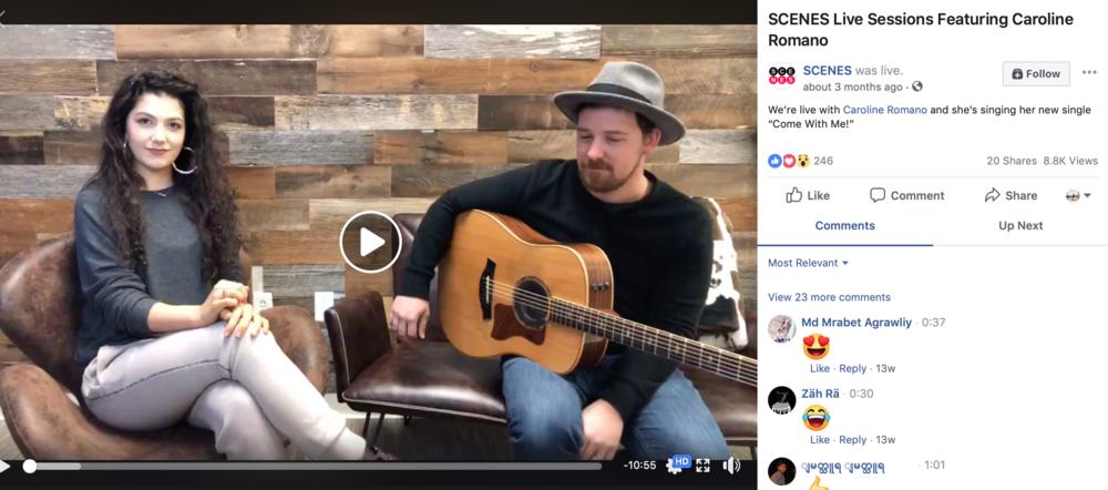 SCENES Live Sessions Featuring Caroline Romano