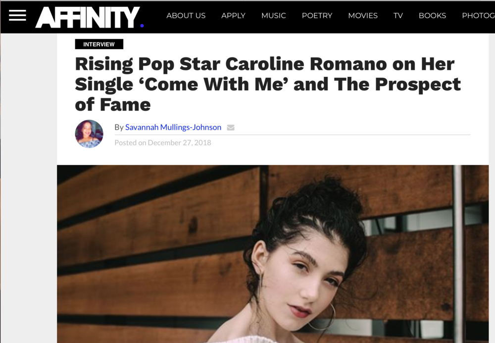 Affinity Magazine - Interview Feature