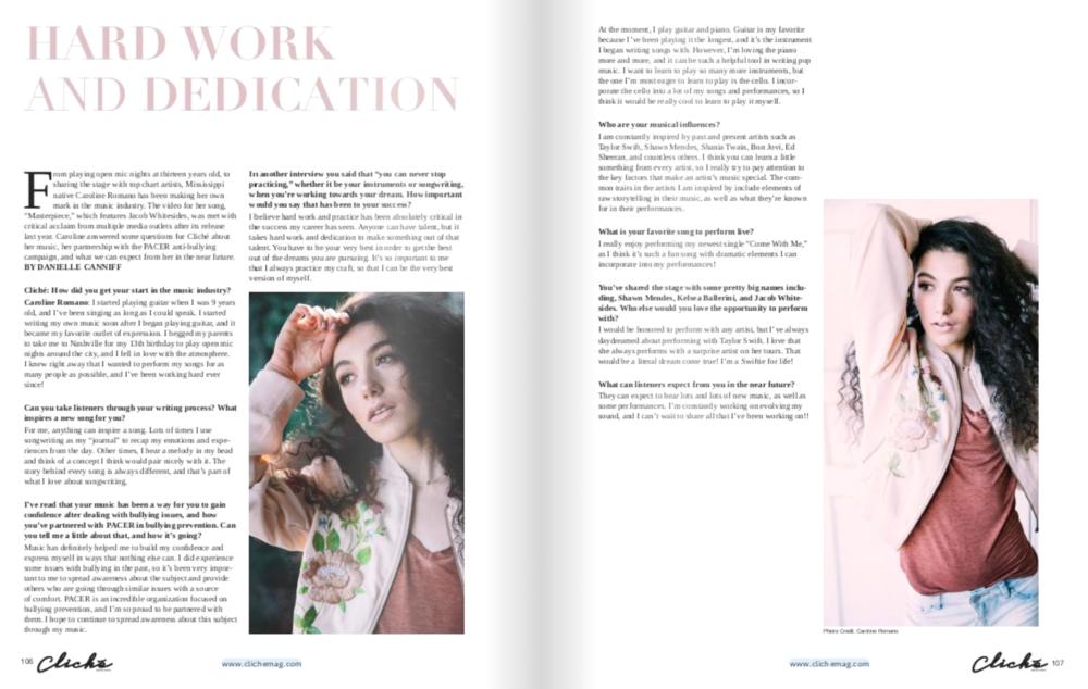 Cliche Magazine - Profile Feature