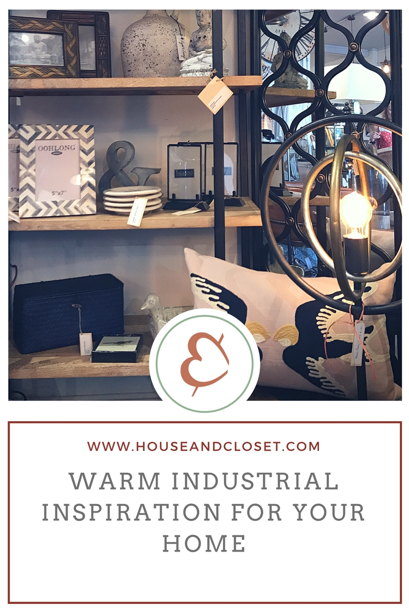 If you are like us, you  LOVE  the look of industrial décor, but sometimes you want a little softer, warmer look for your home.  We have simple tips to make it easy to incorporate the chic look of raw wood & metal, and keep your space cozy and warm!   ADD TEXTURE:  layer pillows, throws, natural wicker baskets and a soft area rug to soften the look of industrial décor.   LIGHTING:  The warm glow of ambiance lighting brings out the romance in your home style. Use retro styled bulbs and lamps to enhance your style.   ORGANIC ELEMENTS:  Accessorize your bookcases, side tables with elements inspired by nature. Delicate frames with birds, sculpture, plants and even your coffee table books can bring nature inside. The warmth of the wood and the colors of industrial décor work seamlessly with organic accessories to bring you a  WARM, INDUSTRIAL & TIMELESS CHIC DECOR .