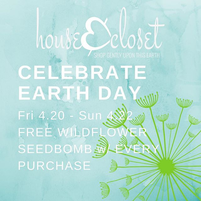 We're feeling gratitude for the beautiful planet we're blessed to live on today. Spread the love! Free wildflower seedbombs with each in store purchase *4/20-4/22/18 Limit one per customer while supplies last.