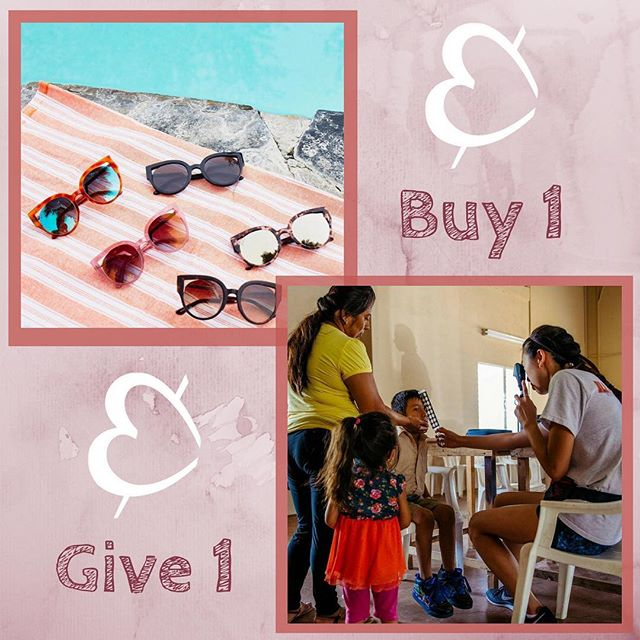 Socially conscious & charitable at heart, @diffeyewear strives for the perfect pair - handcrafted with designer quality materials and delivered to you with love. Together we can make a difference. For every pair sold, a paid is donated to someone in need. #lookonthebridhgtside #diffcharitableeyewear #buyonegiveone #makeaDIFFerence #sunnydaysarehereagain