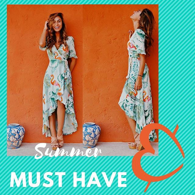 JUST IN & already a favorite is this summer must have! This dress is a pocketful of sunshine. #flamingo #pocketfullofsunshine #musthave #summerfavorite