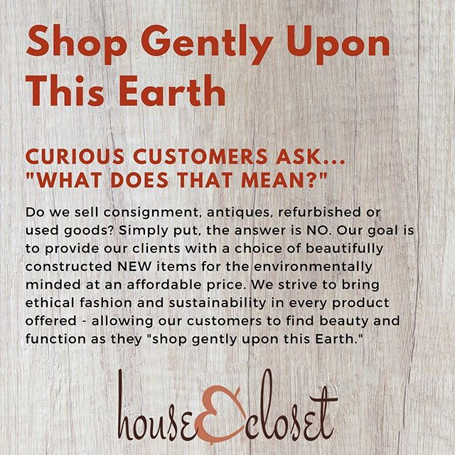 We search the world over for new planet friendly, eco-styles, ethical fashions, & sustainable goods. Shop confidently knowing that your purchases strengthen communities & support struggling ecosystems around the globe. #shopgentlyuponthisearth #fairtrade #ecostyle #earthfriendly #ecofashion