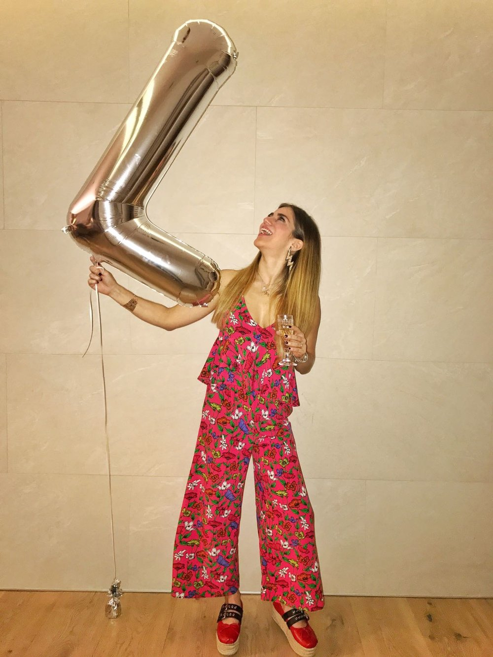 Birthday Outfit:  Jumpsuit: ZARA  -  Shoes: Miu Miu espadrilles (both birthday gifts)