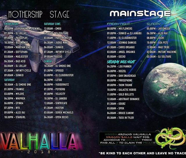 Next stop #valhalla  #music #festival #2018 #basshouse #bangers incoming!!!! Catch us playing mainstage from 11-12