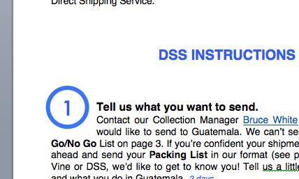- DSS Instructions