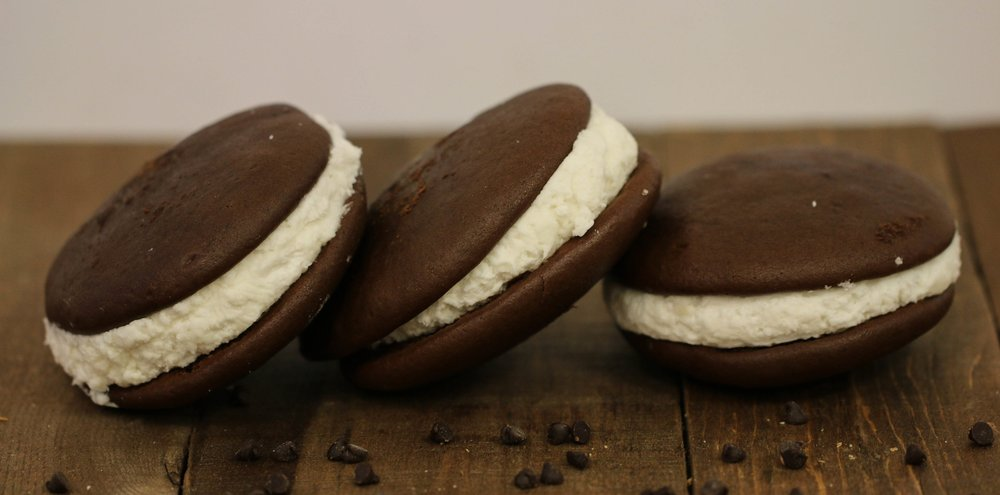 Our locally famous whoopie pies, with a traditional recipe that dates back for decades