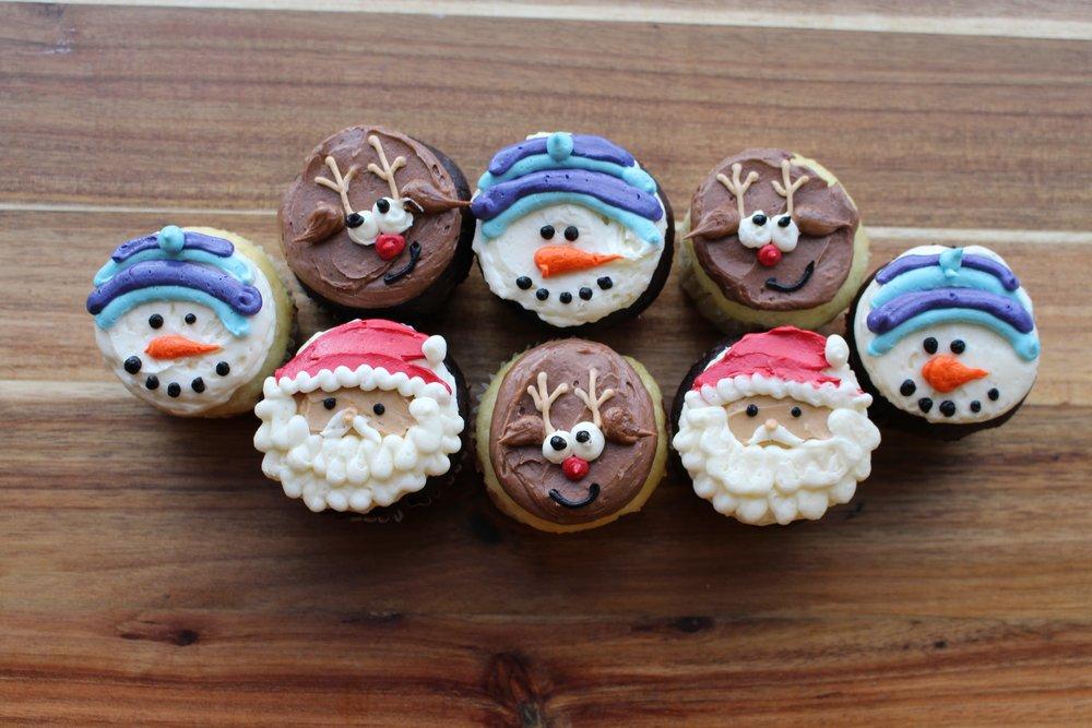Holiday Character Cupcakes