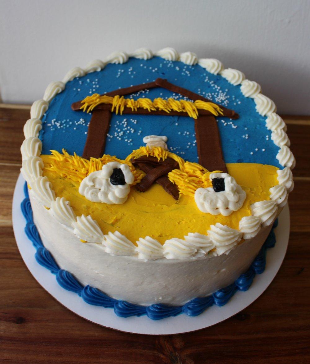 Manger Scene Cake