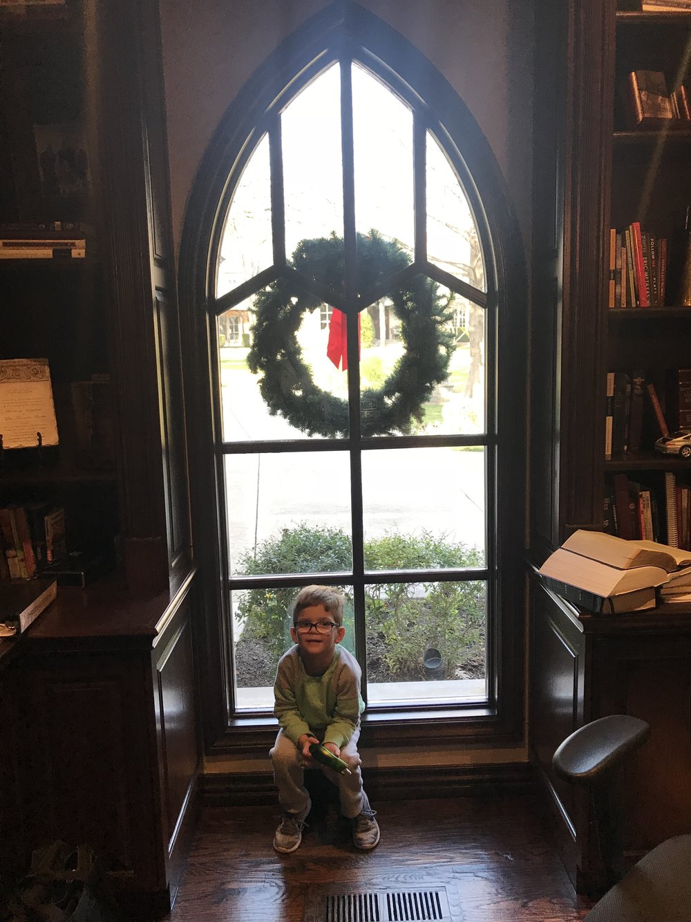 Teagan in the study
