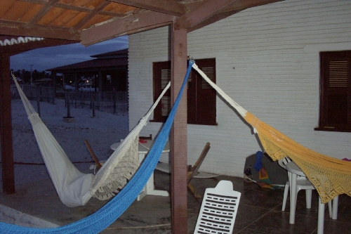 Hammocks out on a porch in Recife, during Brazil's Carnaval, circa 2001