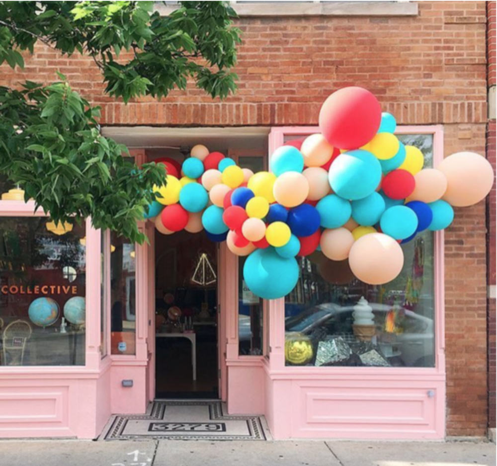 Luft Balloons again, creating an outside inside display. Gorgeous.