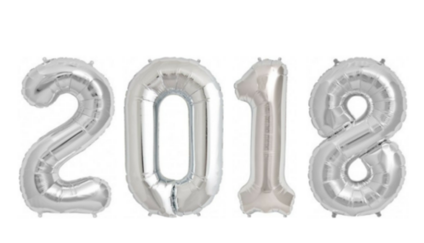 Foil numbered balloons.
