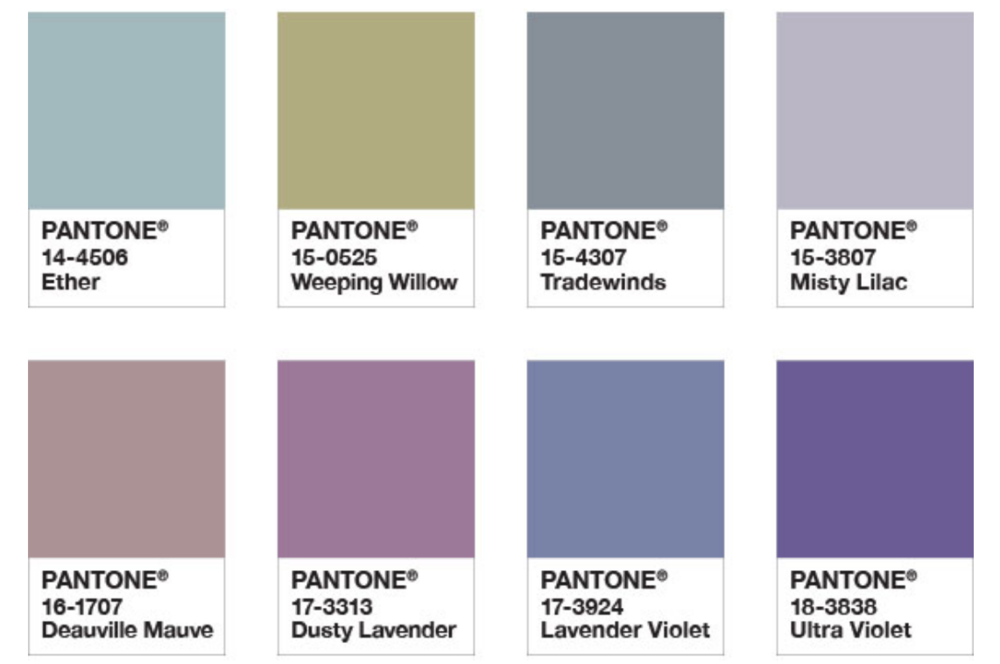 One of Pantones colour palletes for 2018.