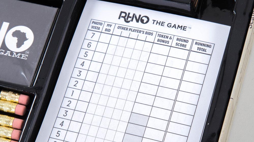 Rhino The Game Scorepads