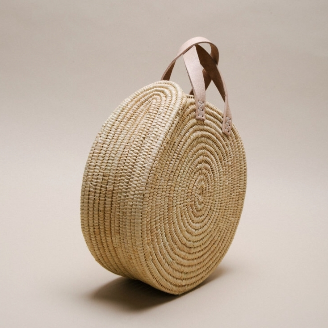 THE ROUND RAFFIA BAG - £38
