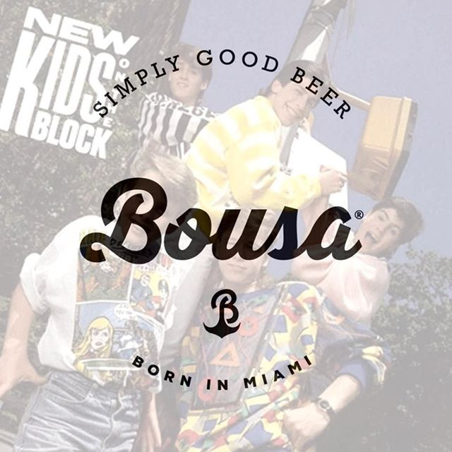 "Look who the ""New Kid on the Block"" is! @bousa_brewing You got the right stuff! See you Saturday!! 🚌🍻 . . . #miamibrewbus #MBB #littleriver #tour #brewery #craftbeer #southflorida #bousabrewing #nkotb #simplygoodbeer"