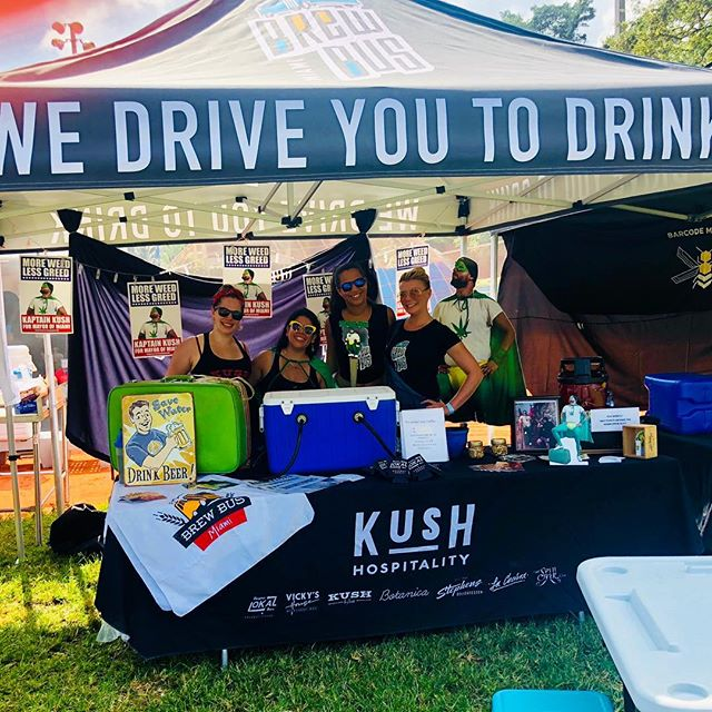 If you're not on @miamibrewbus today, you should be @grovetoberfest instead!! Cheers and Beers!!! 🍻🍻 . . . @kushwynwood #miamibrewbus #MBB #craftbeer #grovetoberfest #kush #lokal #spillover #kaptainkush #coconutgrove #miami #southflorida #wynwood #beer #tour #party #cheers