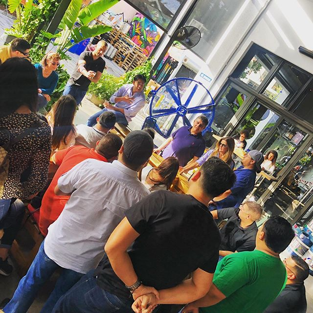 We bet you wished your week day looked just like this...sipping on a beer, enjoying the weather, all while working! Book your office Brew Bus outing today!  #miamibrewbus #wynwood #miami #doral #florida #soflo #craftbeer #MBB #holiday #corporateevents #outings #office #party