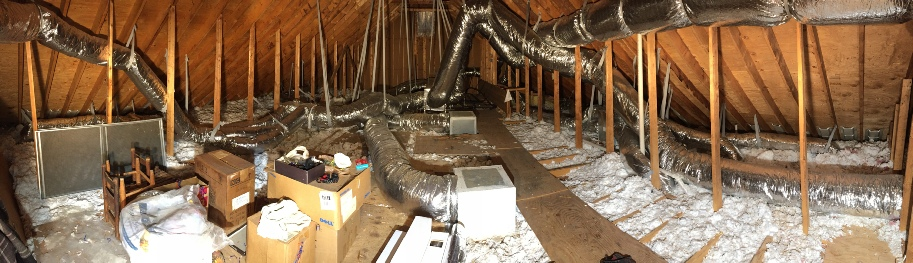 Before Radiant Barrier Instalation