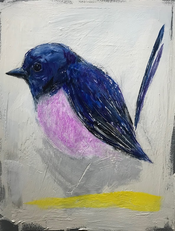 Study of a Pink Robin