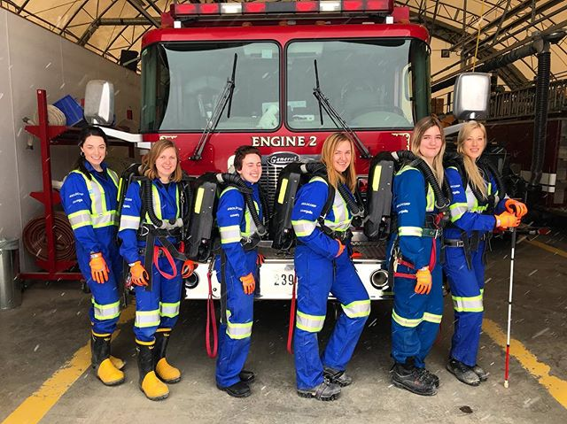 The girls team featuring Engine 2 outfitted in their brand new @covergalls coveralls and gloves! . . . . #ubcminerescue #funfact #minerescue #ubcmining #engineering #ubc #mining #mine #fire #firerescue #rescue #firstaid #fun #photography #beautiful #photooftheday #team #teamwork #followers #followme #vancouver #instagood #love #blue #sky #snow #girl #girls