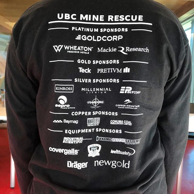 A huge thank you to all of this years sponsors!!! Whether it was money, time, or equipment; the UBC Mine Rescue Team would not exist without their generosity 🙏🏻 . . . . #ubcminerescue #minerescue #ubcmining #engineering #ubc #mining #mine #fire #firerescue #rescue #firstaid #fun #photography #beautiful #photooftheday #team #teamwork #followers #followme #vancouver #instagood #love #sponsor #thankyou