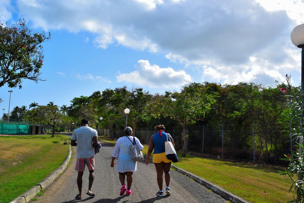 Following the tribe through Langley Resort Fort Royal in Guadeloupe.