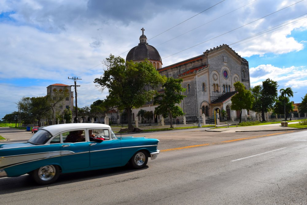 Crossing the street into a time capsule in Cuba.