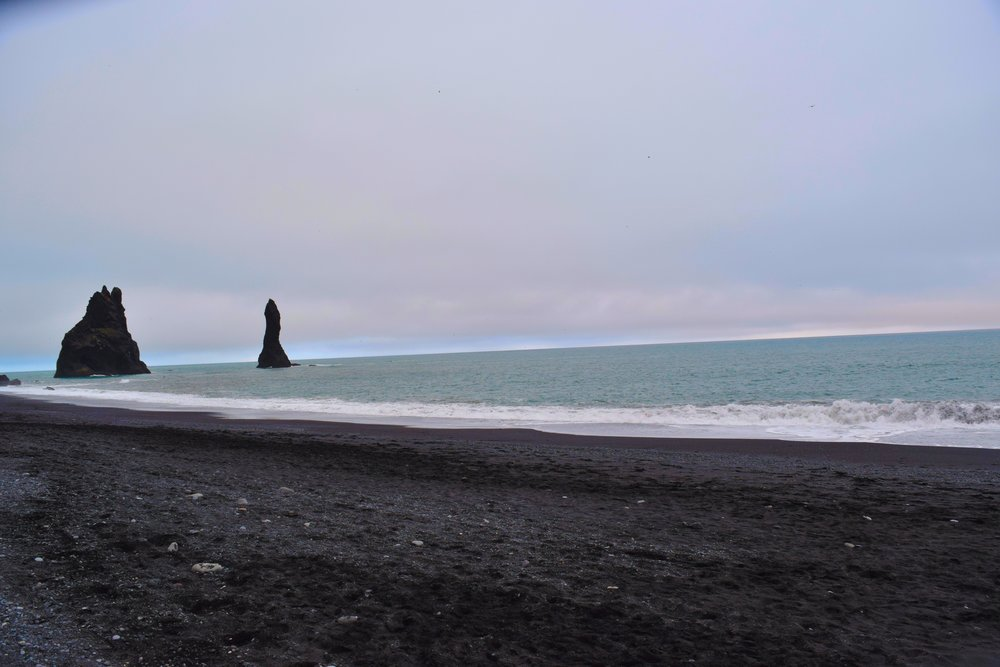 Black sand beach at Reynisfjara, Iceland.