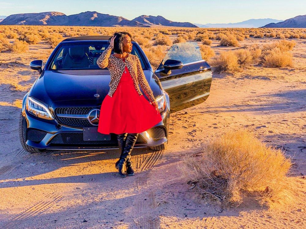 Shaunda in the Mojave Desert.