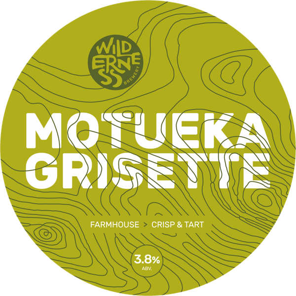 Motueka Grisette - Light, fresh farmhouse beer, dry hopped with Motueka3.8% ABVCask, keg & bottle