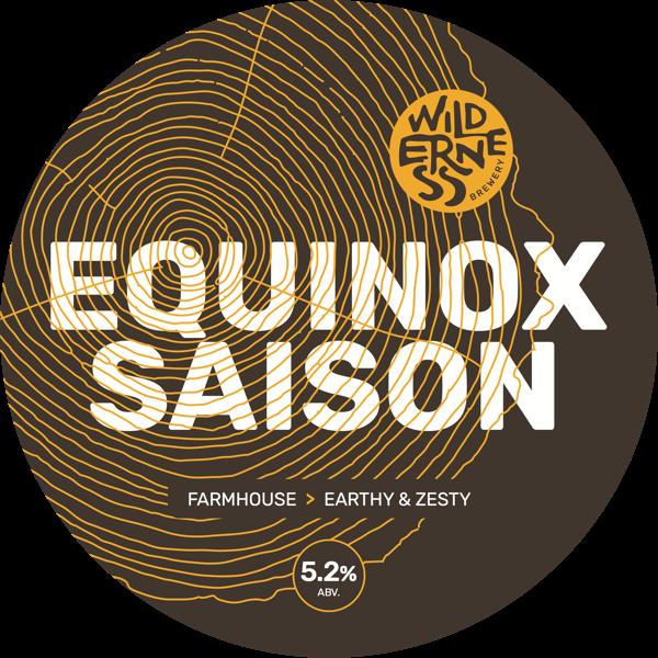 Equinox Saison - Barrel aged Saison, dry hopped with Citra & Ekuanot5.2% ABVKeg & bottle