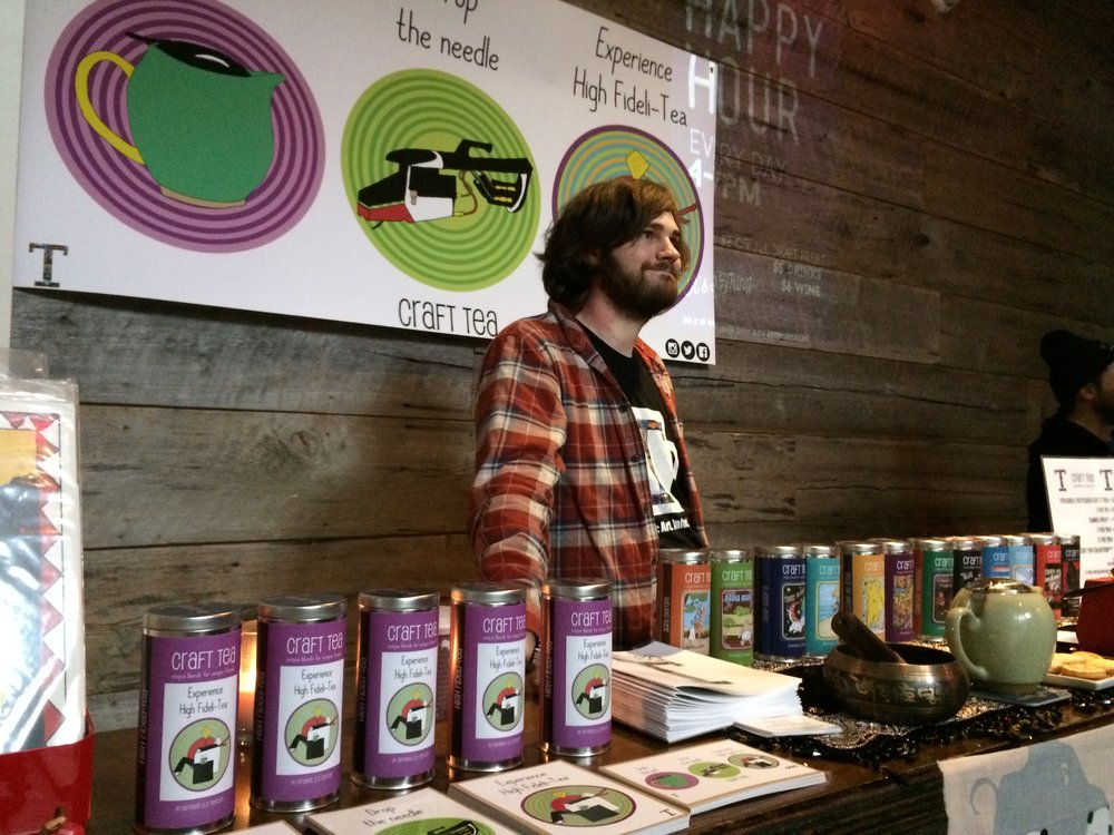 Mike the Tea Guy at the DC Record Fair hosted at Penn Social. January 2017