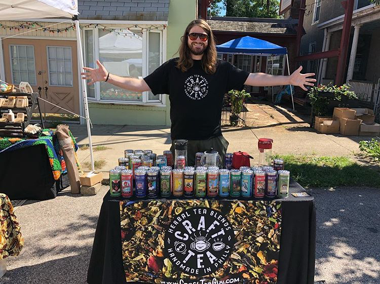 Mike the Tea Guy at Mt Airy Village Fair; September 2018