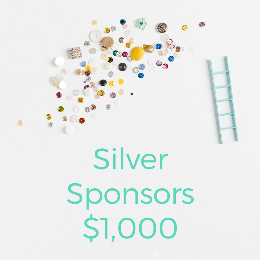 SILVER SPONSORS     You provide:     $1,000    We provide you:    - Shout outs on our Instagram and Facebook to our 3,000+ followers  - Placement on our event page on our website  - HALF page spot in our Retreat Guidebook  - Your logo on our event t-shirt  - Admission for two to attend our event business training sessions