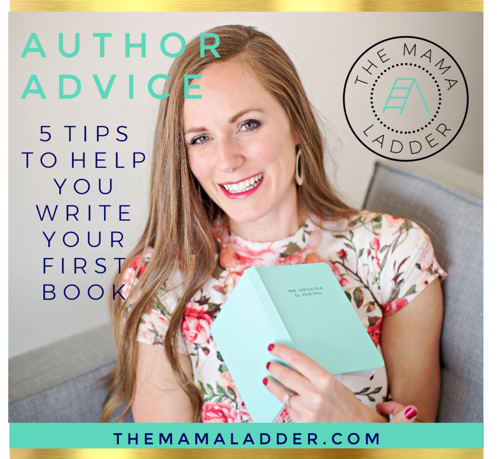 write your first book tips by Crystalee Beck at The Mama Ladder