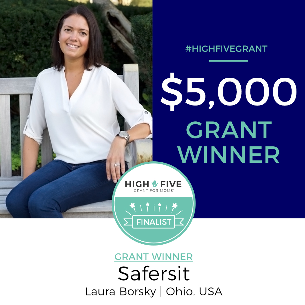 Safer Sit Laura Borsky High Five Grant for Moms Winner