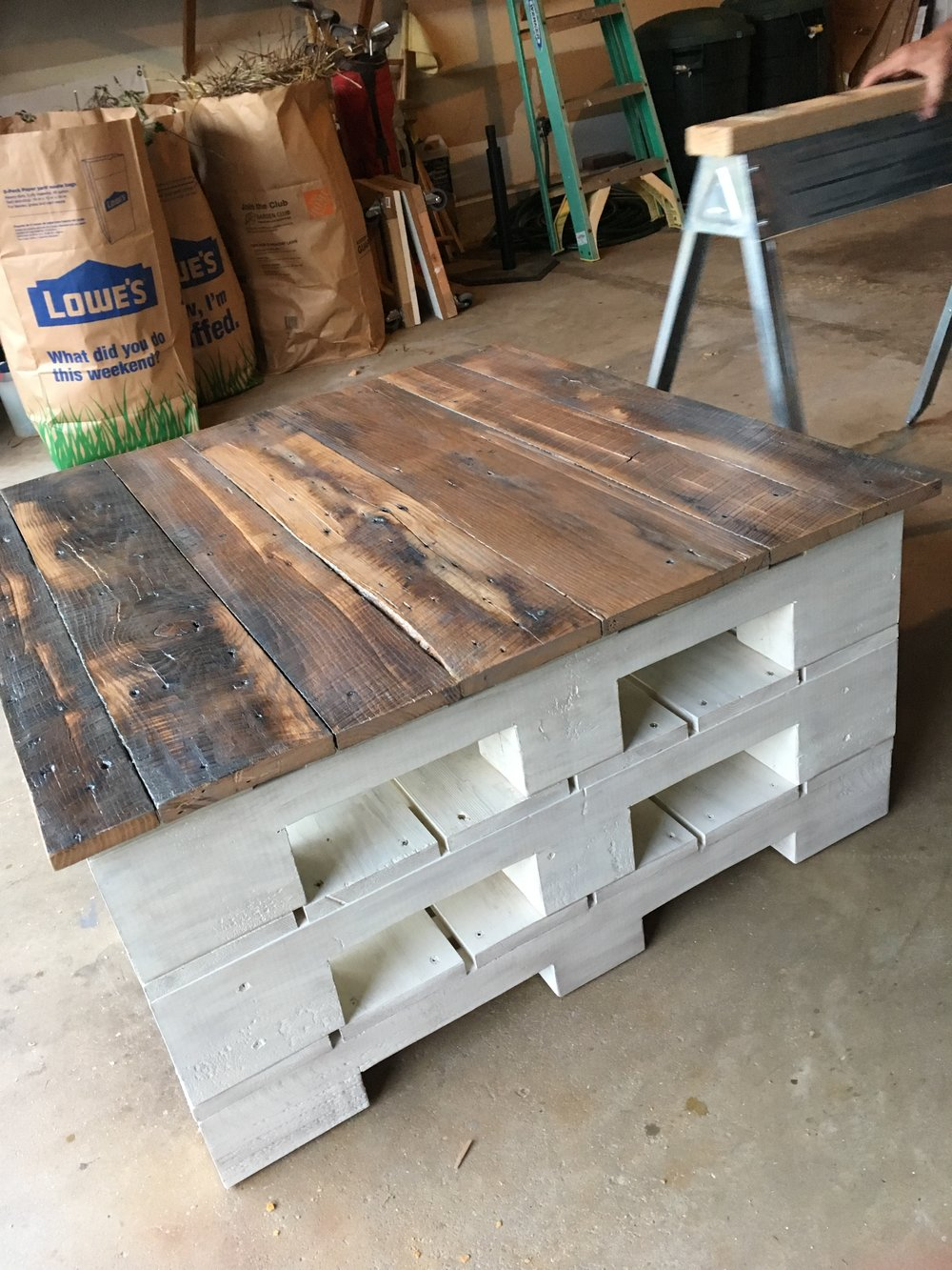 Shop rustic grit reclaimed wood creations skid coffee table 450 geotapseo Gallery