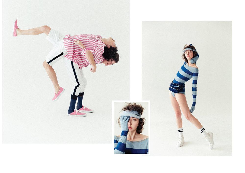 Ariel e Gael vestem IGOR DADONA e tênis CONVERSE Ana veste FERNANDO COZENDEY e tênis CONVERSE